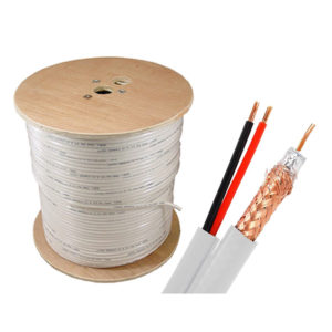 Siamese RG59 Cable 500' White